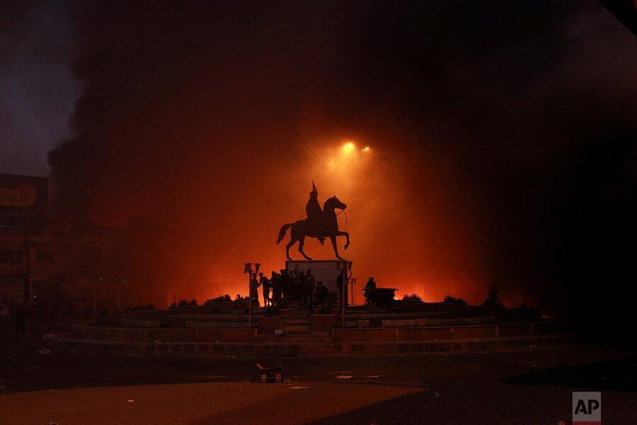 عکس سال ، آتش در بغداد