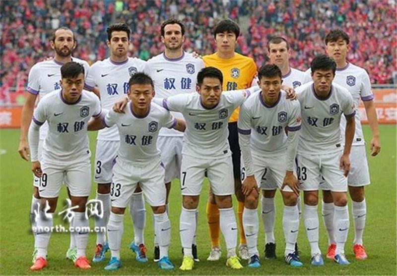 خوشحالی پورعلی گنجی با پرچم تیانجین و درخشش او در آخرین بازی فصل