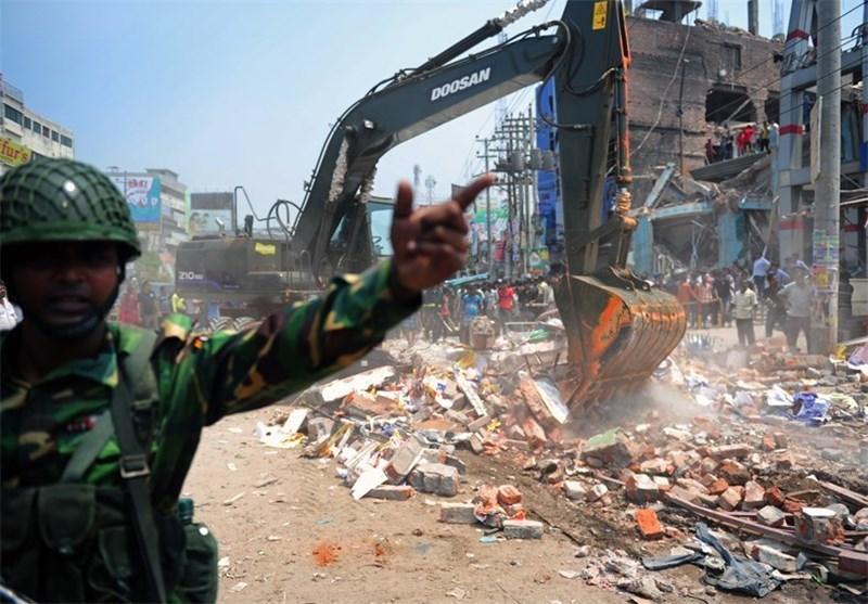 آمار تلفات ریزش ساختمان در بنگلادش به بیش از 530 نفر رسید
