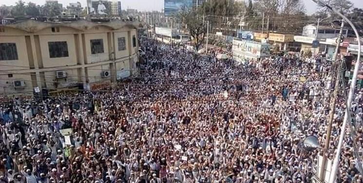 فیلم و عکس، تظاهرات در بنگلادش علیه کشتار مسلمانان در هند