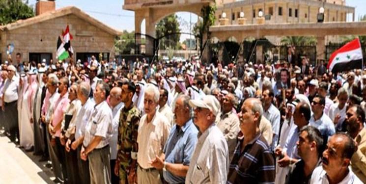مردم دیر الزور سوریه تجمع عظیم ضد آمریکایی برگزار کردند