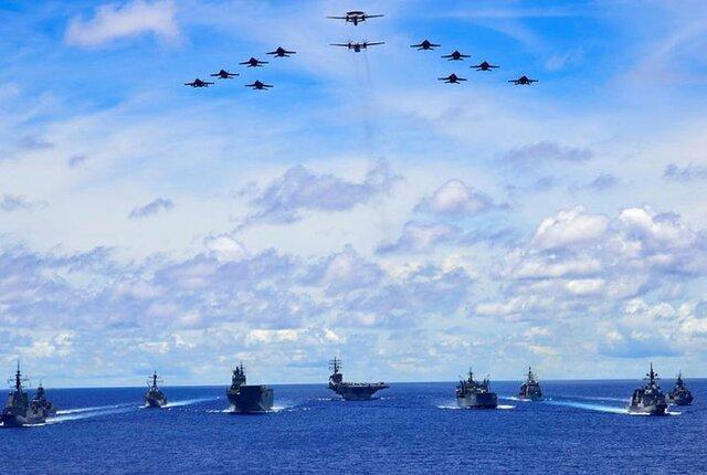 حضور ناوهای استرالیایی در کنار نیروهای دریایی آمریکا و ژاپن در دریای فیلیپین
