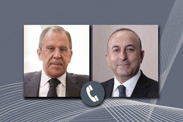 وزرای خارجه روسیه و ترکیه تلفنی تبادل نظر کردند