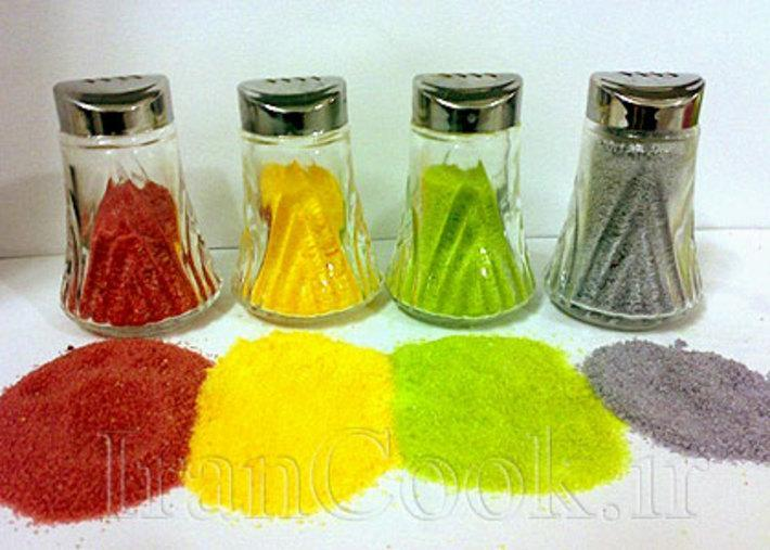 دستور ساخت نمک رنگی خوراکی و مصنوعی