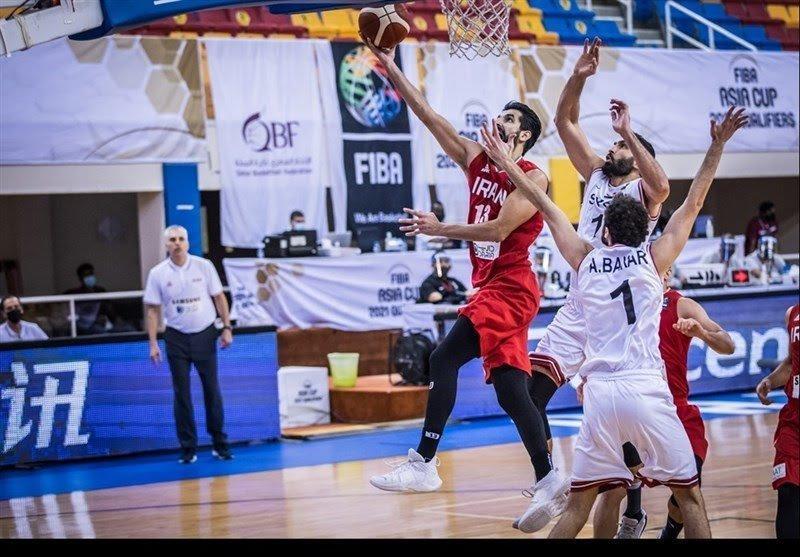 شکست تیم ملی بسکتبال ایران مقابل سوریه