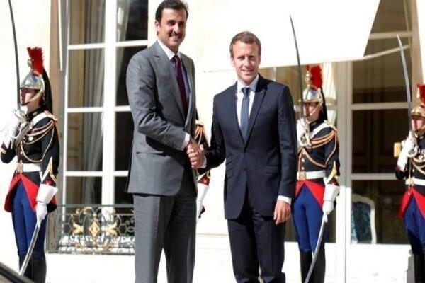 ماکرون و امیر قطر درباره آشتی دوحه و ریاض تبادل نظر کردند