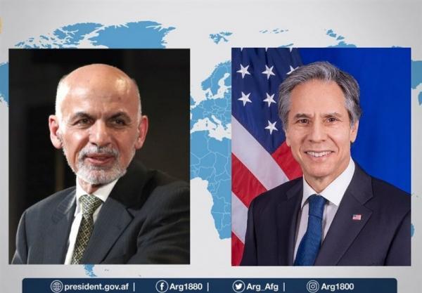 تماس تلفنی غنی و بلینکن همزمان با نشست ناتو درباره افغانستان