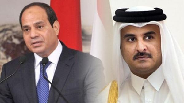 سیسی و امیر قطر پیغام تبریک رد و بدل کردند