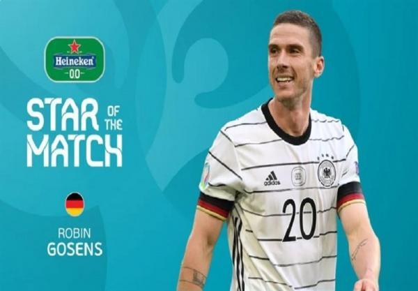 یورو 2020، گوسنز بهترین بازیکن ملاقات آلمان و پرتغال شد