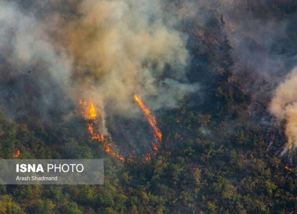 مهار آتش سوزی جنگل های منطقه حفاظت شده دیل گچساران پس از 4 شبانه روز