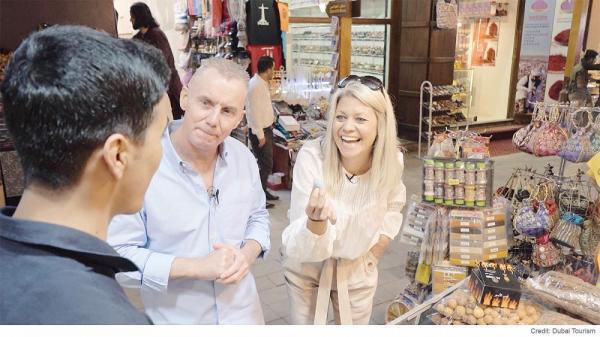 ماهی سالمون با برنج ایتالیایی در دوبی
